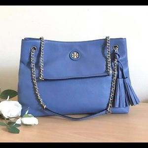 Tory Burch Whipstitch Logo Large Chain Tote
